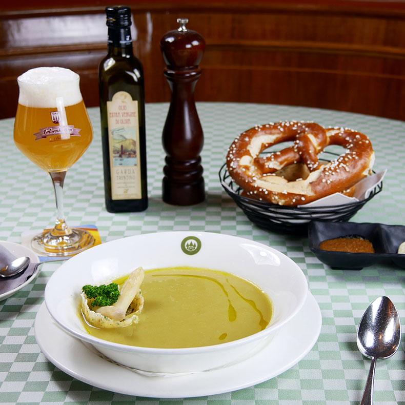 Cream with Zambana asparagus